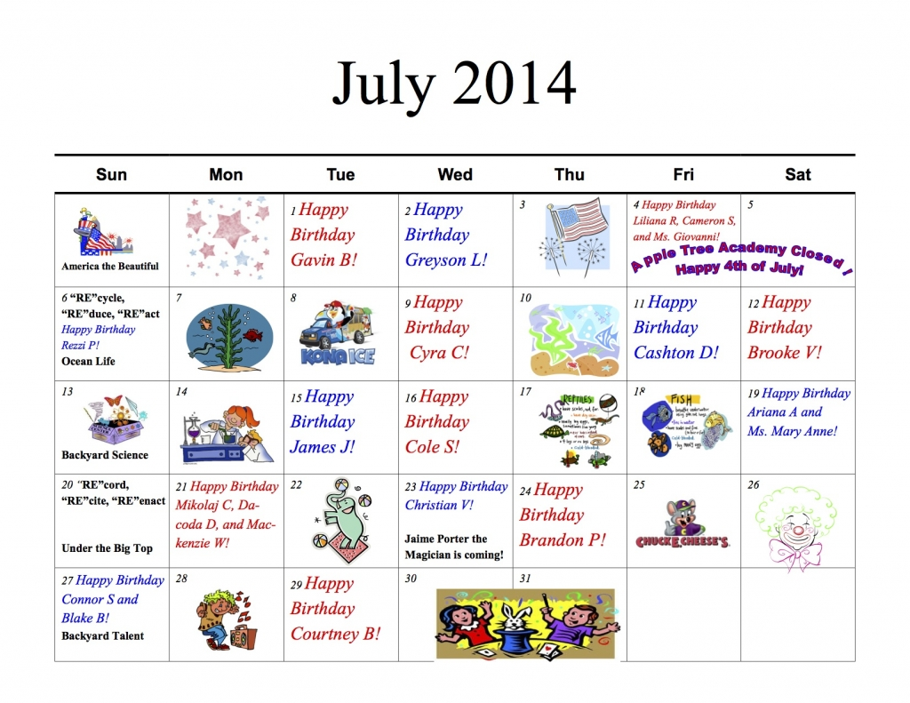 ATA II July_2014__Parent_Calendar